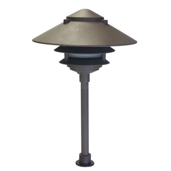 landscape lighting low voltage clear lens wide brim pagoda. Black Bedroom Furniture Sets. Home Design Ideas