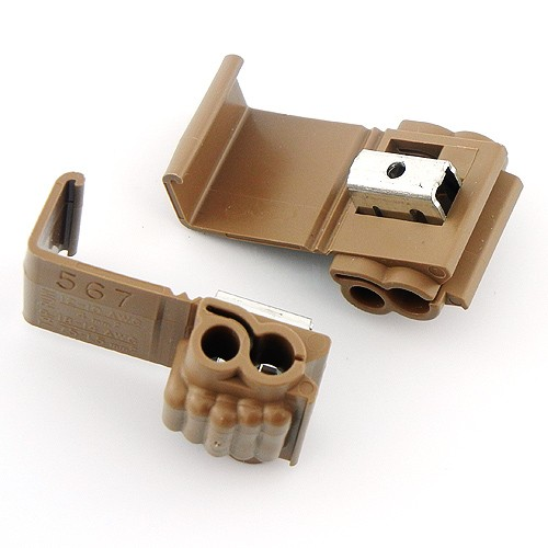 Cci Low Voltage Connectors : Quick outdoor landscape lighting m™ brown connector