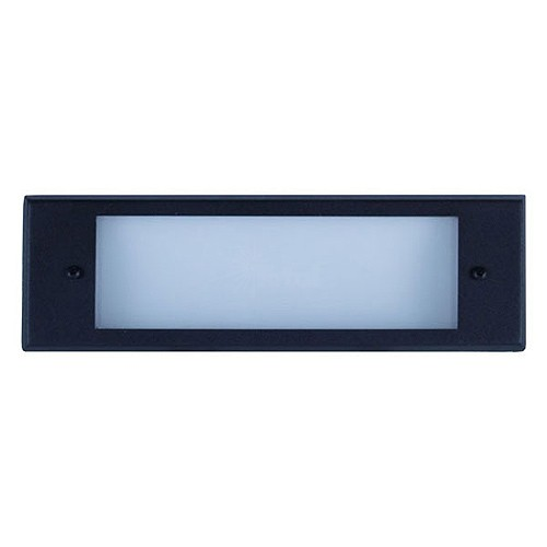 Outdoor Low Voltage Black Glass Lens Rectangle Surface