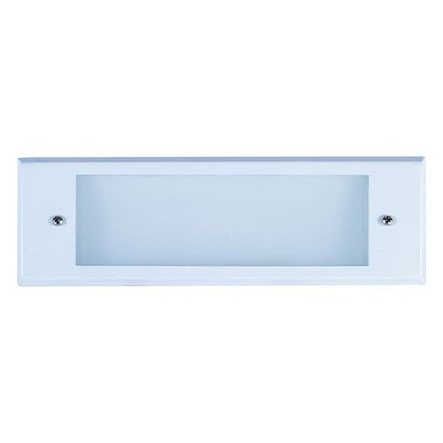 Step Lights Outdoor Low Voltage: Outdoor Low Voltage White Rectangle Surface Brick Step