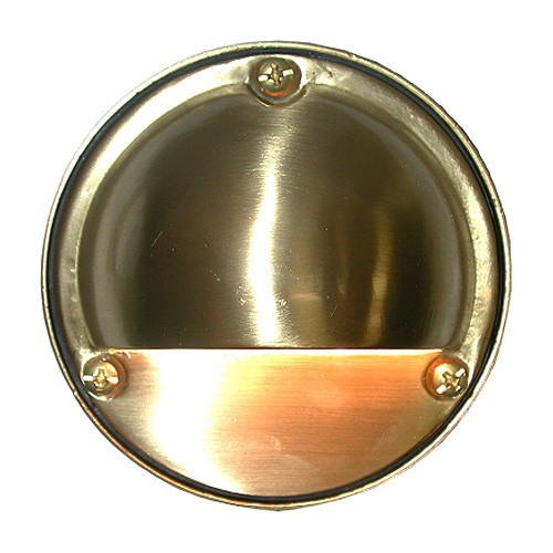 Outdoor Low Voltage Hood Solid Cast Brass Round Surface