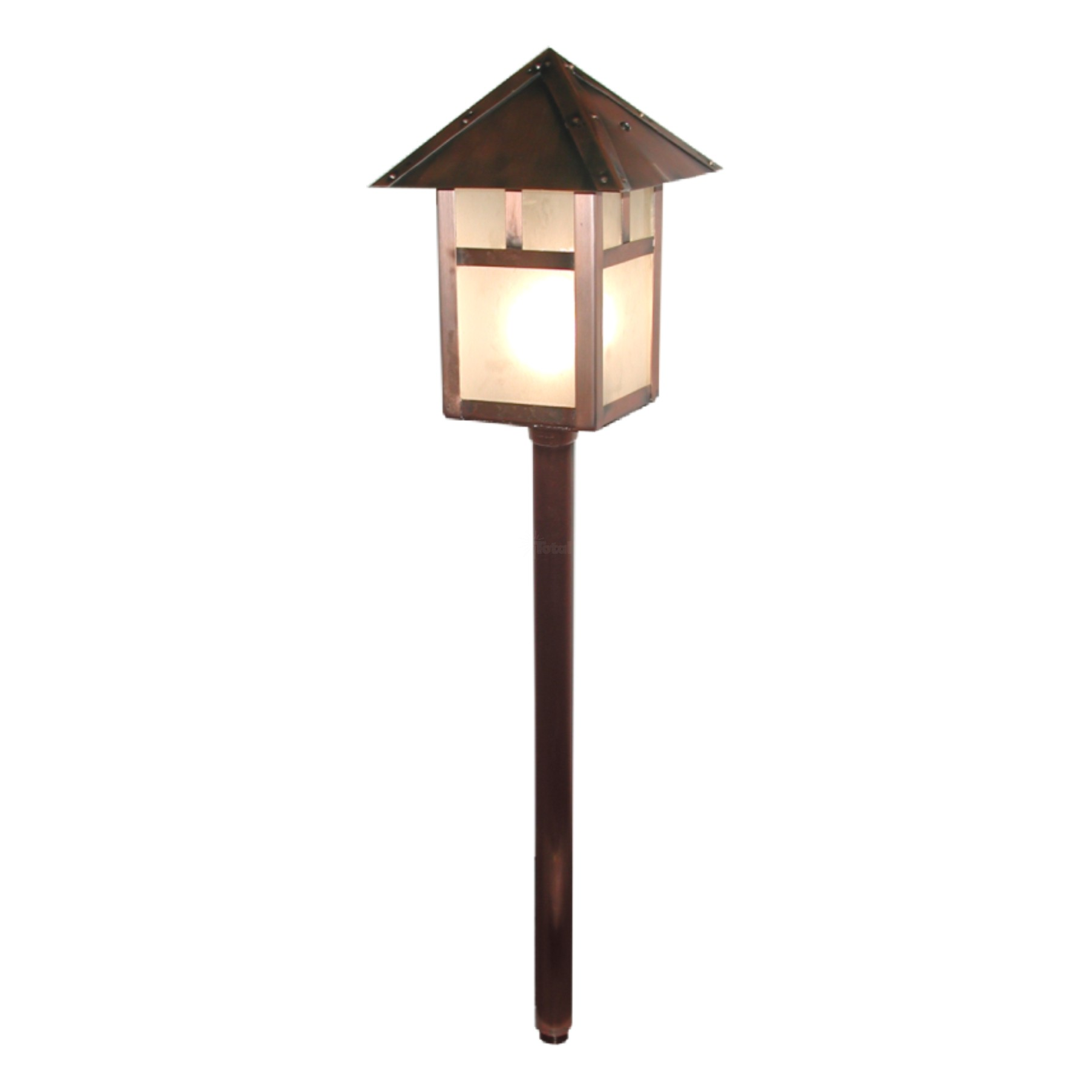 Landscape lighting low voltage lantern path light for Low voltage walkway lighting sets