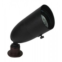 Orbit LED Outdoor landscape lighting long bullet spot light, Black, Low Voltage, Aluminum