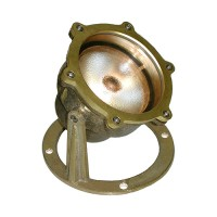 Large PAR36 solid brass underwater pond light