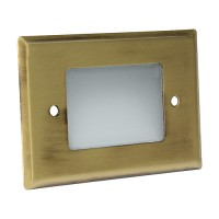 Outdoor landscape lighting antique brass half brick step light face plate, 7110 series