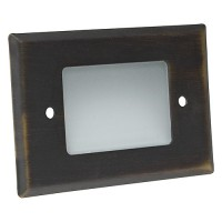Outdoor landscape lighting architectural bronze half brick step light face plate, 7110 series