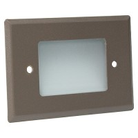 Outdoor landscape lighting bronze half brick step light face plate, 7110 series