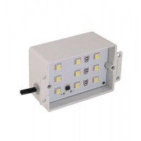 LED Outdoor landscape lighting cool white 12volt brick / step / wall light steel housing low voltage 7100H-LED