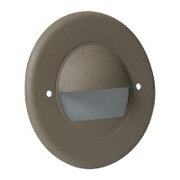Outdoor landscape lighting round bronze half brick step light face plate, 7121 series