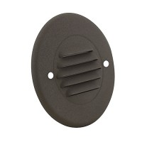 Outdoor landscape lighting round bronze half brick louver step light face plate, 7122 series