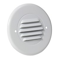Outdoor landscape lighting round white half brick louver step light face plate, 7122 series