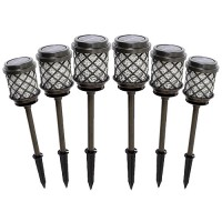 Outdoor Malibu Solar LED 6-pack 8520-5111-06 LED Calypso Collection gun metal gray metal path light