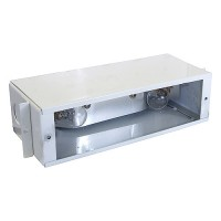 Outdoor low voltage steel B700 12 volt bayonet brick step wall housing