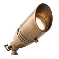 LED LB171-AB-6-WW antique brass landscape lighting mini hooded key bullet spot light low voltage warm white