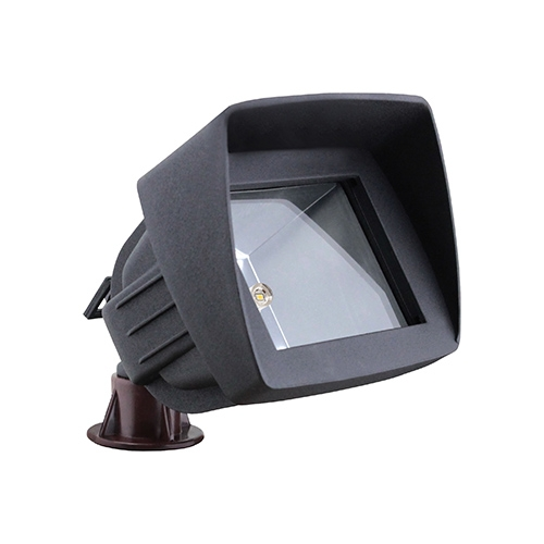 OUR MOST POPULAR LED black outdoor landscape lighting hooded flood light low voltage warm white