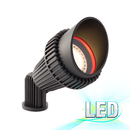 Black LED Outdoor Landscape Spot Light