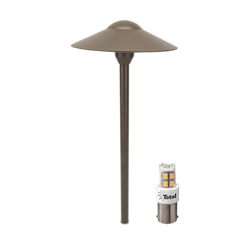 LIGHT BRONZE LED outdoor landscape lighting hat path light warm white Most Popular