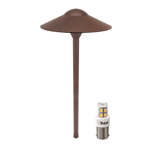 RUST LED outdoor landscape lighting hat path light warm white Most Popular
