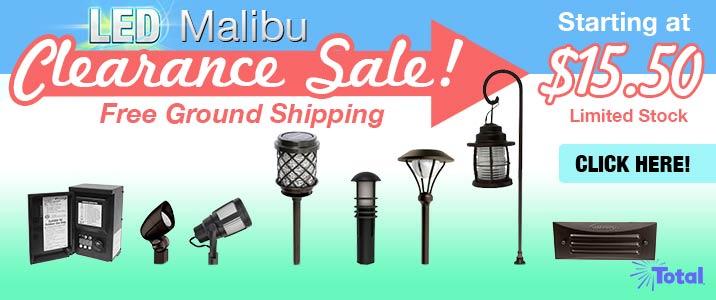 LED Malibu Clearance Sale!