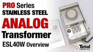 Pro Series Heavy Duty ESL40W Stainless Steel Analog Transformer Overview
